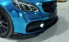 Mercedes W212 E63 2014-2016 front bumper lip spoiler CF