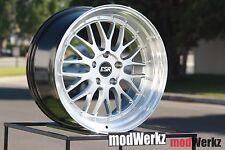 18x9.5 +35 Inch ESR SR05 5x112 Silver LM Style Wheels Rims VW GTI Golf MKV Jetta