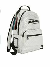 Steve Madden Baustin Silver Quilted Backpack W/tags 1sfa