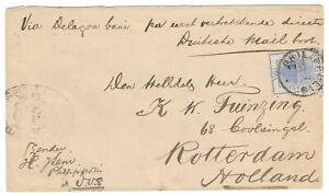 Boer War 7 March 1900 Orange Free State to Holland Postmeester Generaal cachet!