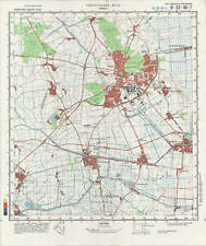 Russian Soviet Military Topographic Map - EMMEN (Netherlands) 1:50 000, ed.1986