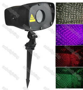 IP65 7 color Outdoor Laser Light Projector Garden Decor Xmas Party Lazer Show DJ