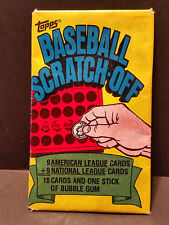 1981 TOPPS SCRATCH OFF UNOPENED PACK 18 CARDS