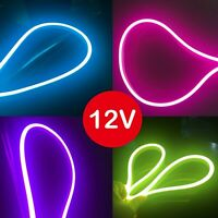 DC12V LED Neon Rope Light SMD 2835 Flexible Waterproof Bar KTV Home Party Decor