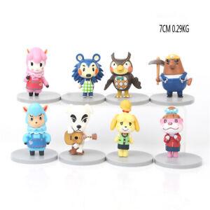 Animal Crossing Celeste KK Slider Isabelle Reese 8 PCS Action Figure Kids Toy