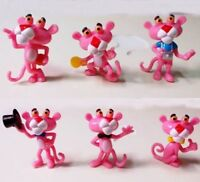 6pc/Set Pink Panther Special Edition 3-4cm Cute Mini Charms Figuries Toy Gift US