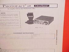 1976 GEMTRONICS CB RADIO SERVICE SHOP MANUAL MODEL GTX-23