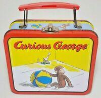 CURIOUS GEORGE Vintage Tin 1998 Lunch Box Collectible Cartoon Keepsake Box 6inch