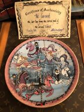 """P BUCKLEY MOSS """"THE CARROUSEL"""" CENTRAL PANEL OF CARROUSEL TRIPTYCH! 1081/5000"""