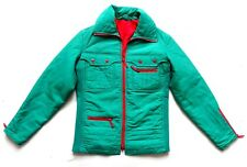 "Men's Vintage 70's Green Ski Jacket Anorak Retro Small 36 "" Chest"