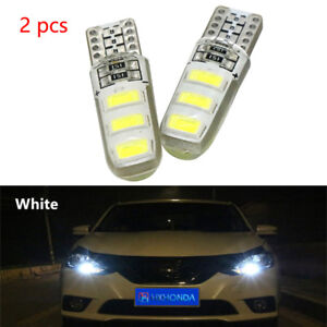 2x White T10 6SMD Car Silica Gel LED Wedge Light Plate License 194 2825 501 Bulb