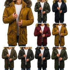 BOLF Herren Winterjacke Parka Wärmejacke Wintermantel Mantel Jacke Mix 4D4 Motiv