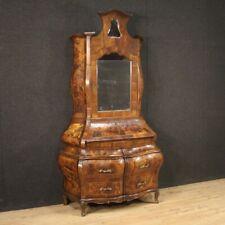 Trumeau Kipper Holz Sekretär Schreibtisch Secrétaire in Walnuss Antik Stil Mobil