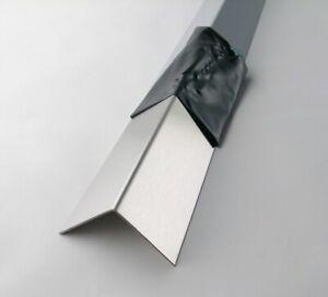 Winkel 1,5mm Edelstahl gebürstet 1+1,5m Winkelmaß wählbar Blechwinkel VAWinkel