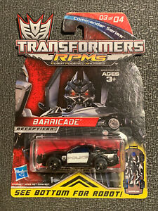 Transformers RPM's Barricade Ford Mustang Commander Series Car Hasbro Decepticon