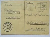 Britische Zone, Ganzsache P 695 b Lübeck 1945 nach Stipsdorf (32104)
