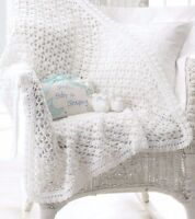 CROCHET PATTERN - LACY CROCHET BABY BLANKET/SHAWL & BOOTEES