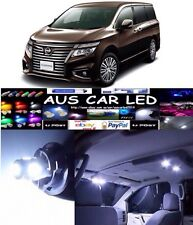 Nissan Elgrand 2008+ White LED Interior Light Globe Bulb upgrade Kit (8pcs)