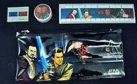 Star Wars Episode 1 Study Kit ~ Jedi VS Sith ~ Pouch, Ruler, Eraser, Sharpener