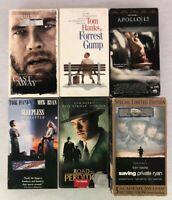 Lot of 6 Tom Hanks VHS VCR Movies Tapes - Cast Away - Forest Gump and more!