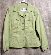 Christopher & Banks Light Heather Denim Jacket Women's Sz L LS Metal Button