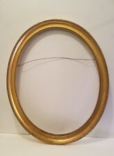 Oval Wood Picture Frame Photo Art