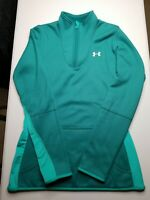 Under Armour Womens M Green Long Sleeve Activewear Pullover 1/4 Zip Long Jacket