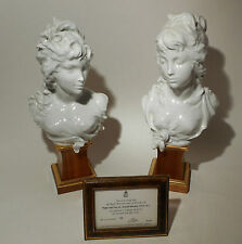 Pair Royal Worcester Allegorical Busts of Night & Day 1970 Arnold Machin 56/250