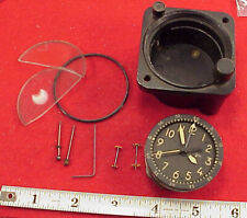 Waltham Watch Co A-13A-20 JEWELS Aircraft Chrono Clock 8 DAYS FOR PARTS REPAIRS
