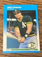 Vintage 1987 Fleer GLOSSY #389 JOSE CANSECO RC Oakland A's Jays OF RARE NM/Mt SP