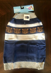 Vibrant Life Four Bears Pet Sweater, MEDIUM New With Tags