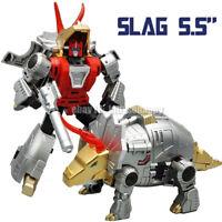 "Pocket Size MFT Robot G1 Style Mechine Dinosaur Dinobots Slag 5.5"" Action Figure"