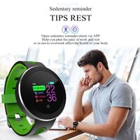 Heart Rate Pedometer Monitoring Smart Watch Activity Fitness Tracker Waterproof