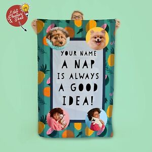 """58x39"""" Personalised Nap Time Design Microfibre Beach Towel Summer Holiday"""