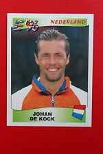 Panini EURO 96 N. 82 NEDERLAND DE KOCK New With BLACK back TOPMINT!!