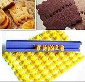 Alphabet Number Letter Cookie Biscuit Stamp Molds Cutter Embosser Cake DIY Mould