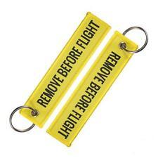 Embroidered Canvas Luggage Tag Label Key Chain New R9S1