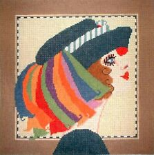Lady in Hat Hp Handpainted Needlepoint Canvas Gj