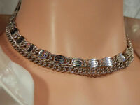 Nice Vintage 1950 Silver Tone Modernist Necklace  782o