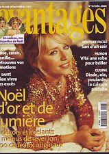 avantages 147 - decembre 2000 - recettes - mode - etiquettes noel