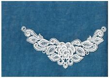 2pc Stunning Venise Lace Applique Motifs Nice White Medallion Crefts Hat  2069w