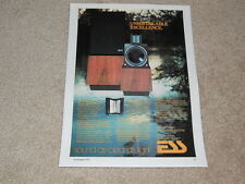 ESS amt-1 Speaker Ad, 1977, Article, Info, 1 page, Rare and Beautiful!