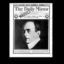 Dollshouse Miniature Newspaper - Daily Mirror 1913 - Scott of the Antarctic