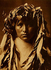 Apache Maiden 15x22 Edward S.Curtis Native American Indian Art Photograph