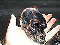BLACK SKULL LARGE shifter shift knob chopper ratrod NR