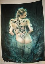 Luis Royo Tattoo and Veil Cloth Fabric Textile Poster Flag Wall Banner-New!