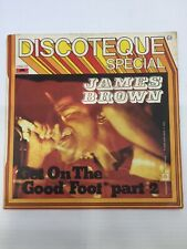 "JAMES BROWN"" GET ON THE GOOD FOOT- disco 45 giri POLYDOR IT 1972"""