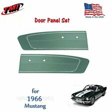 Turquoise Door Panels For 1966 Mustang -Pair- by TMI-Made in the USA