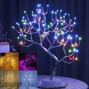 108 LEDs Christmas Birch Tree Fairy Light Twig Table Lamp Xmas Home Decoration