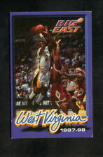 West Virginia Mountaineers--1997-98 Basketball Pocket Schedule--United National